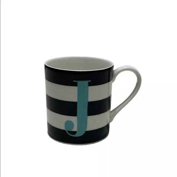 Kate Spade Lenox J Initial Striped Mug